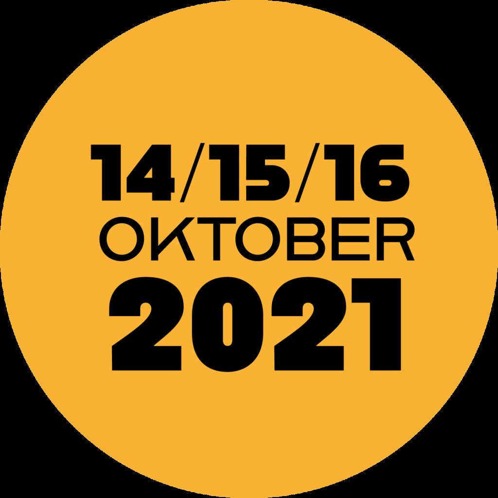 datum 14, 15, 16 oktober 2021